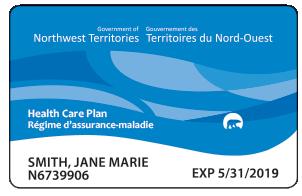 NWT Blue Health Care Card