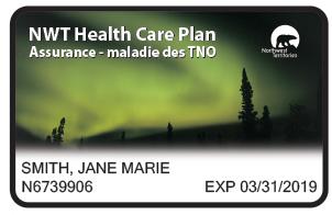 NWT Northern Lights Health Care Card