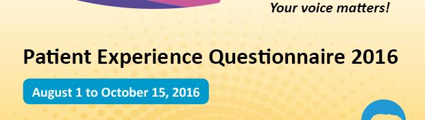 Patient Experience Questionnaire 2016